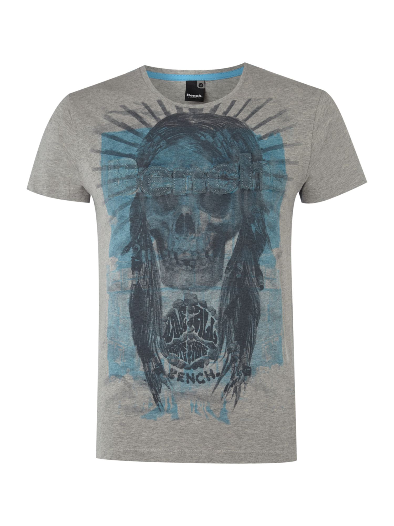 Mens Bench Skull print graphic T-shirt,