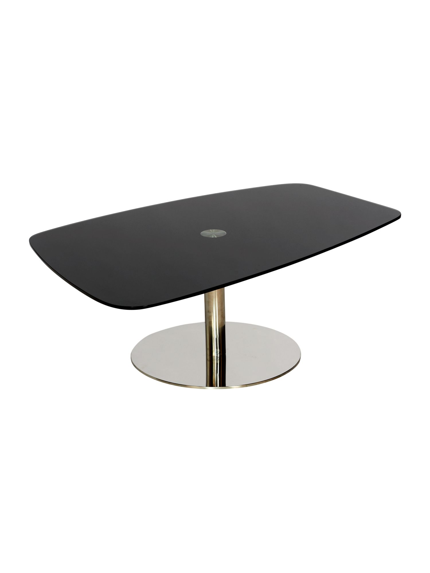 Broadway pebble glass shape coffee table