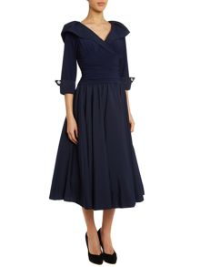 Eliza J 3/4 sleeve ruched waist dress