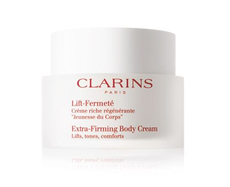 how to use clarins extra firming body cream