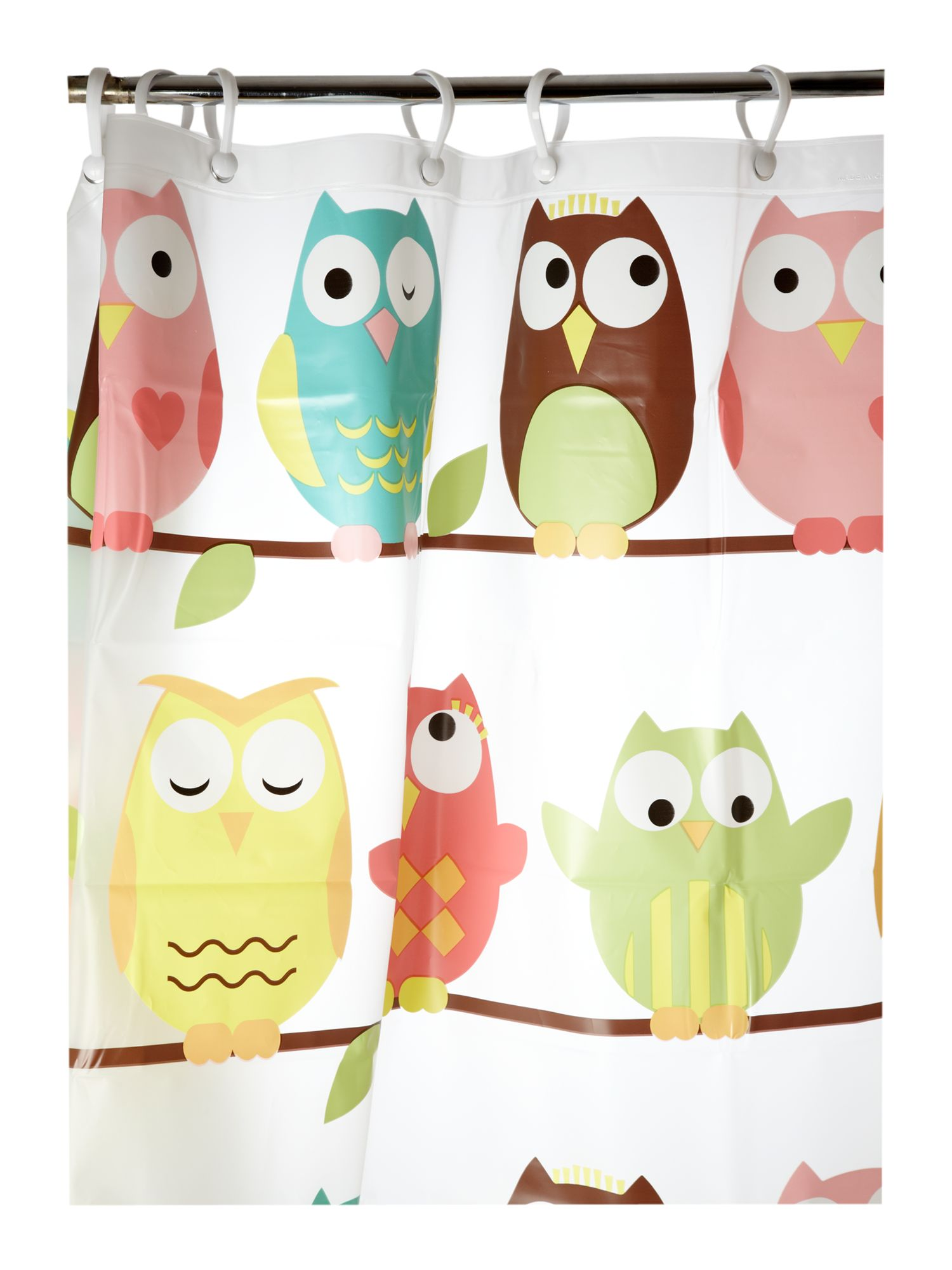 Wise old owl shower curtain in multi