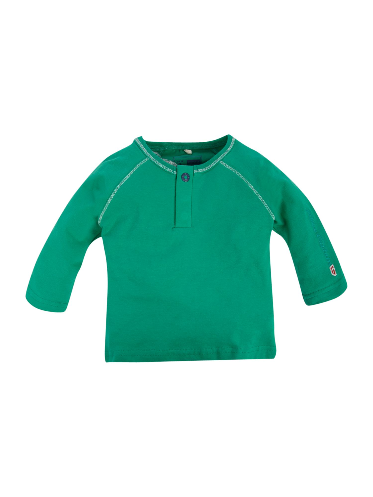 name it Long-sleeved granddad collar T-shirt - Green product image