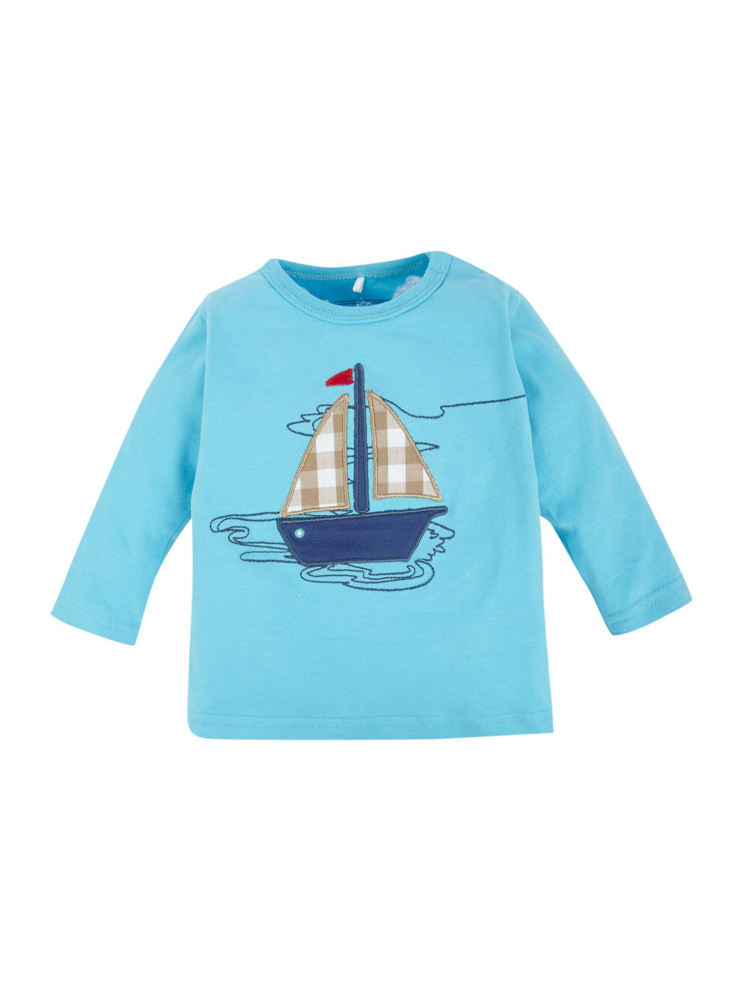 name it Long-sleeved boat applique T-shirt - Turquoise product image