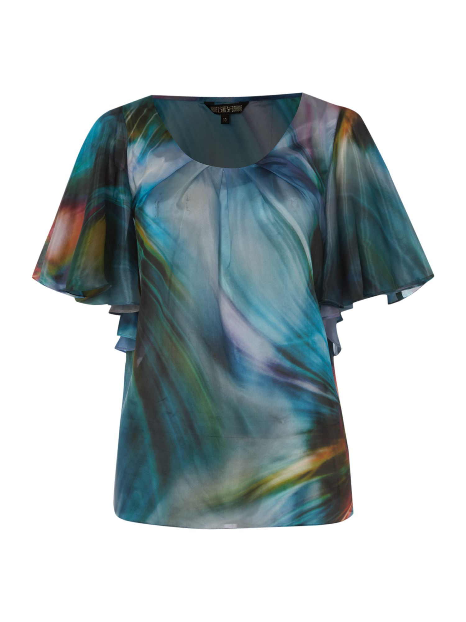 Abstract printed silk blouse,