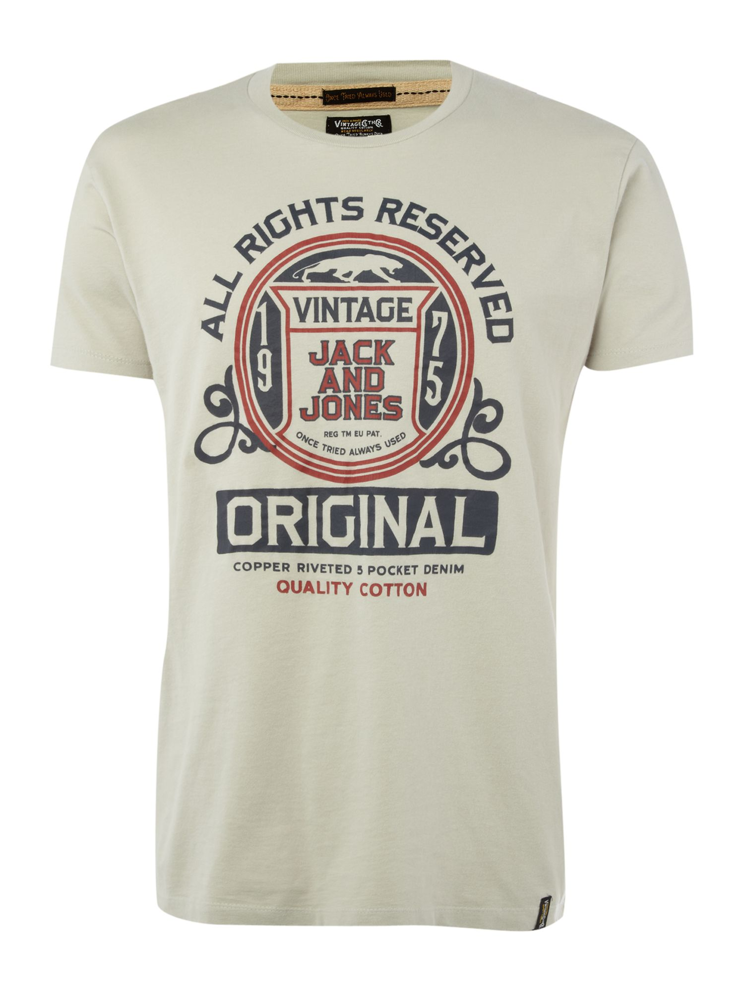 Jack & Jones Vintage Short-sleeved printed T-shirt - Navy product image