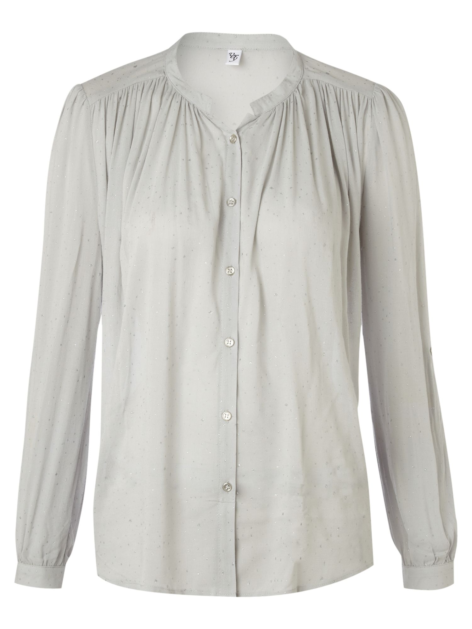 Vero Moda Very Ls round neck embellished blouse top - White product image