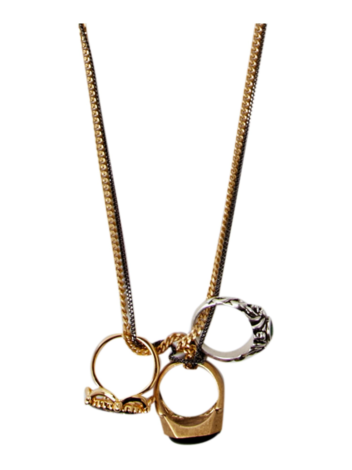 Disney Couture Long necklace with ring pendant