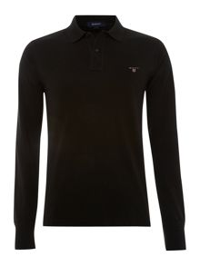 Long-sleeved classic polo shirt