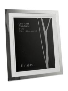 Linea Modern silver plated 8 x 10 photo frame
