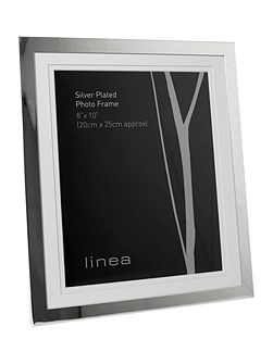 Modern silver plated 8 x 10 photo frame