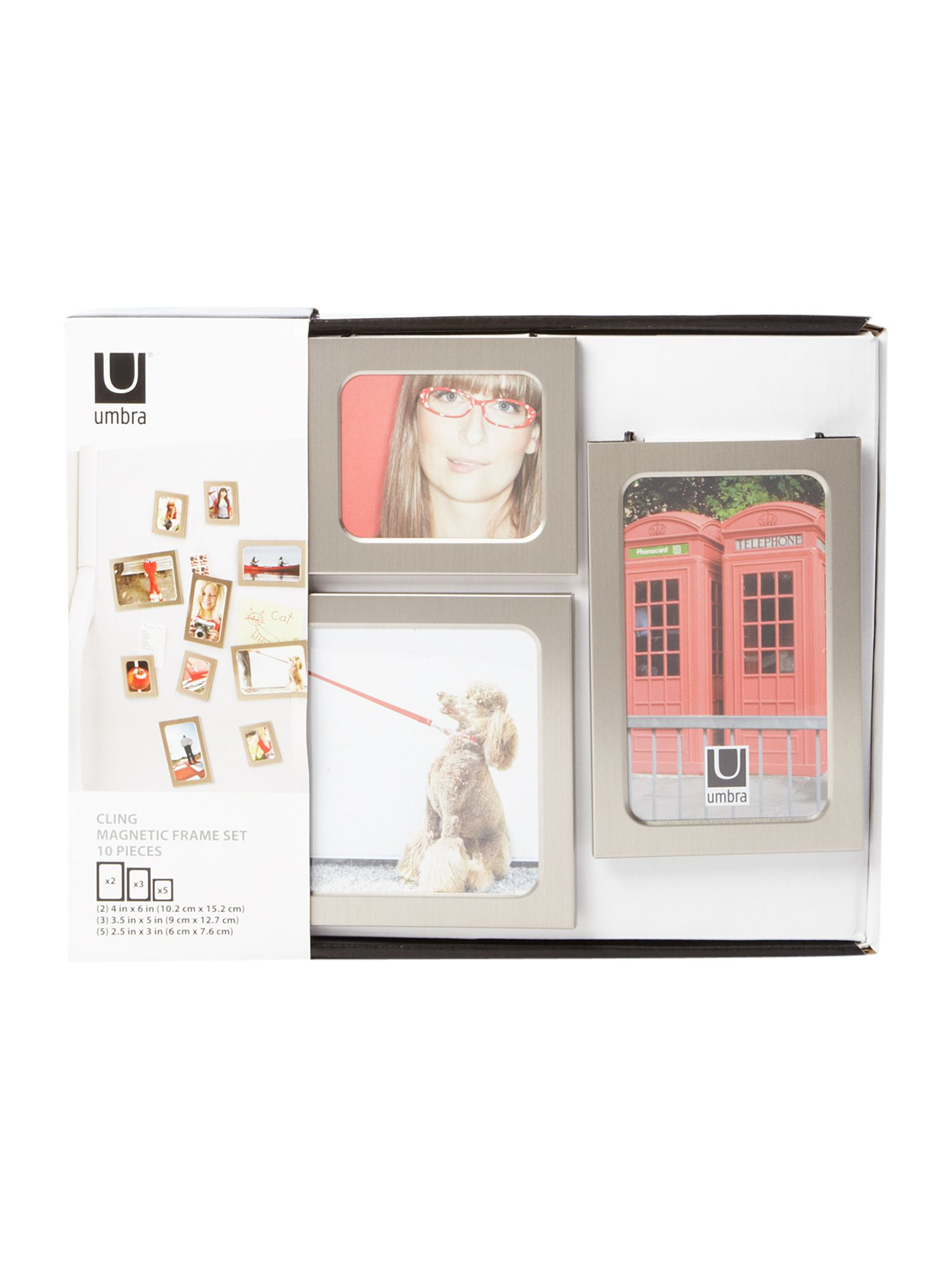 Cling 10 piece magnetic photo frame set