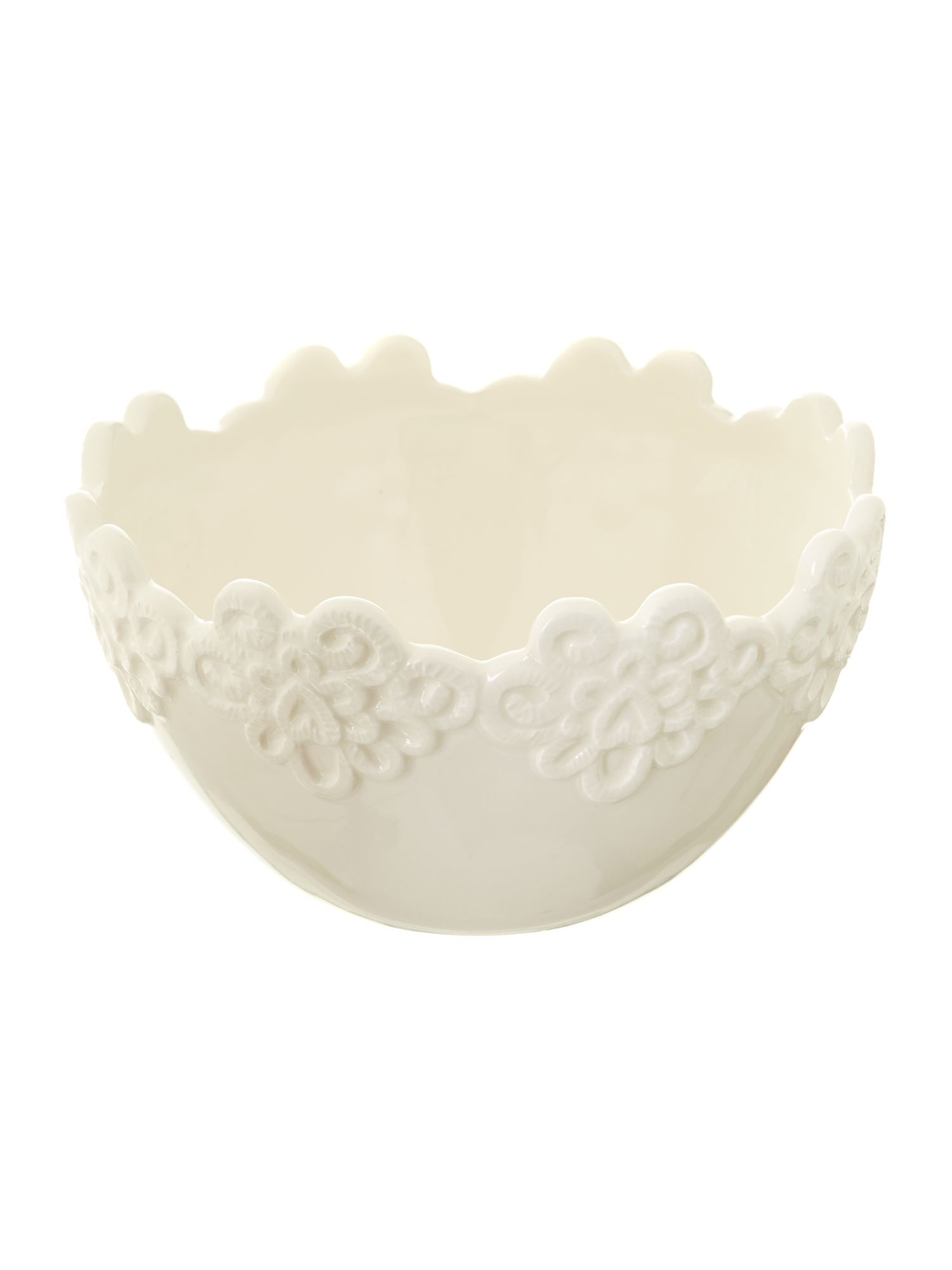 Shabby Chic Lace Fruit Bowl