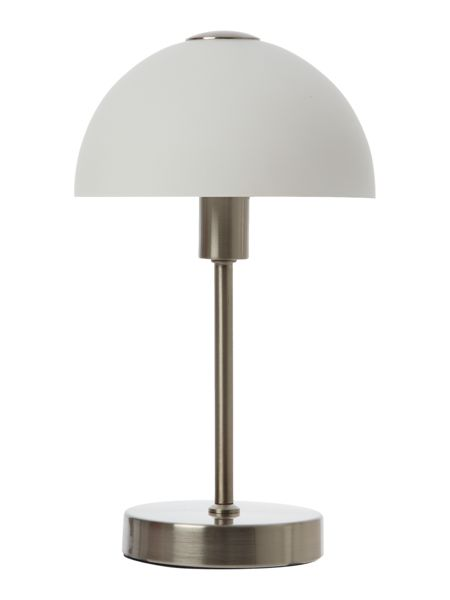 Linea Satin nickel Quincey touch table lamp