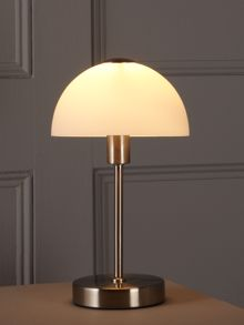 Satin nickel Quincey touch table lamp