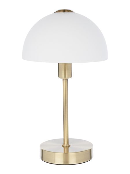 Linea Antique brass Quincey touch table lamp