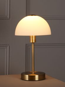 Antique brass Quincey touch table lamp