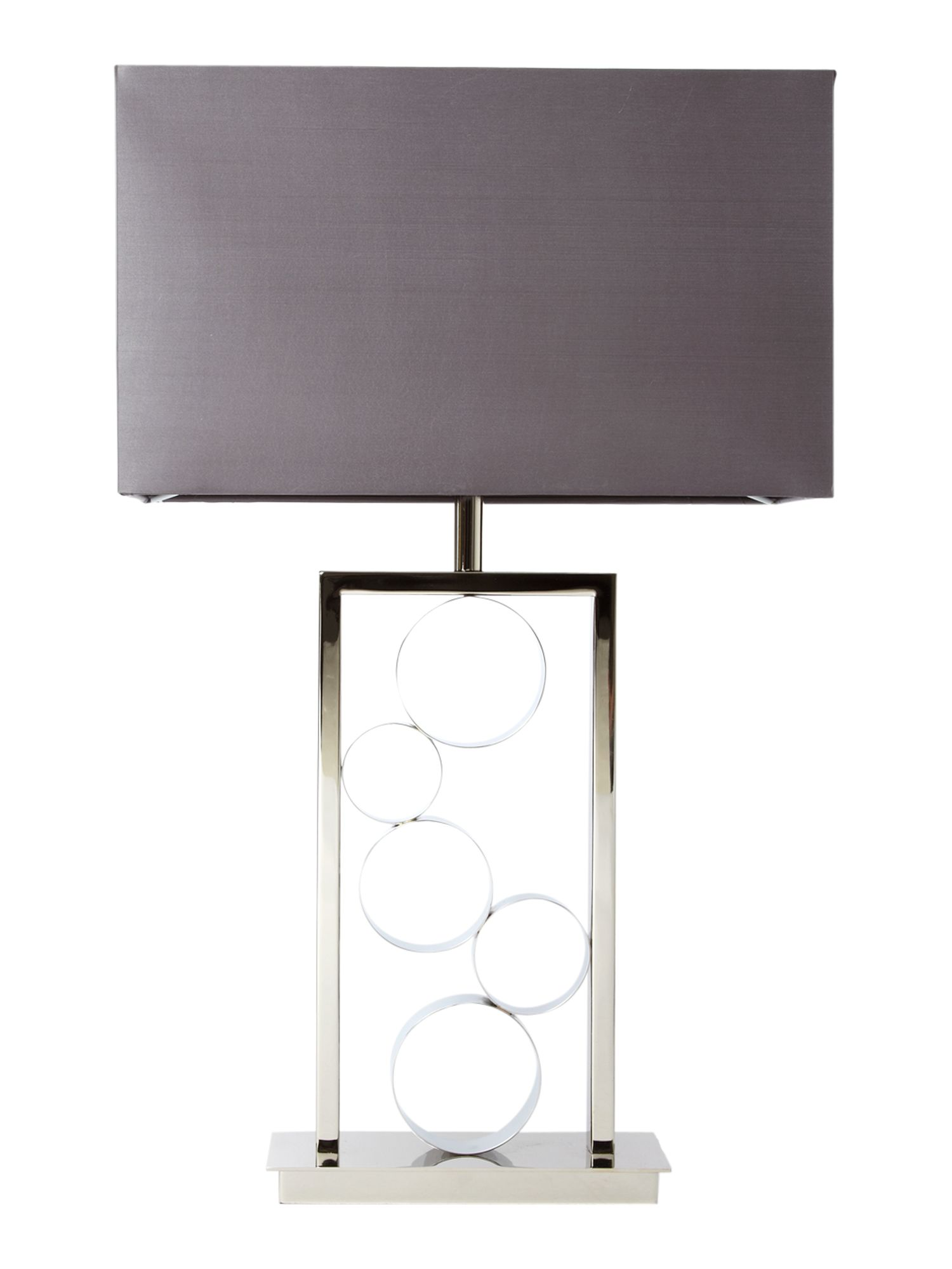 Lawrence polished nickel table lamp
