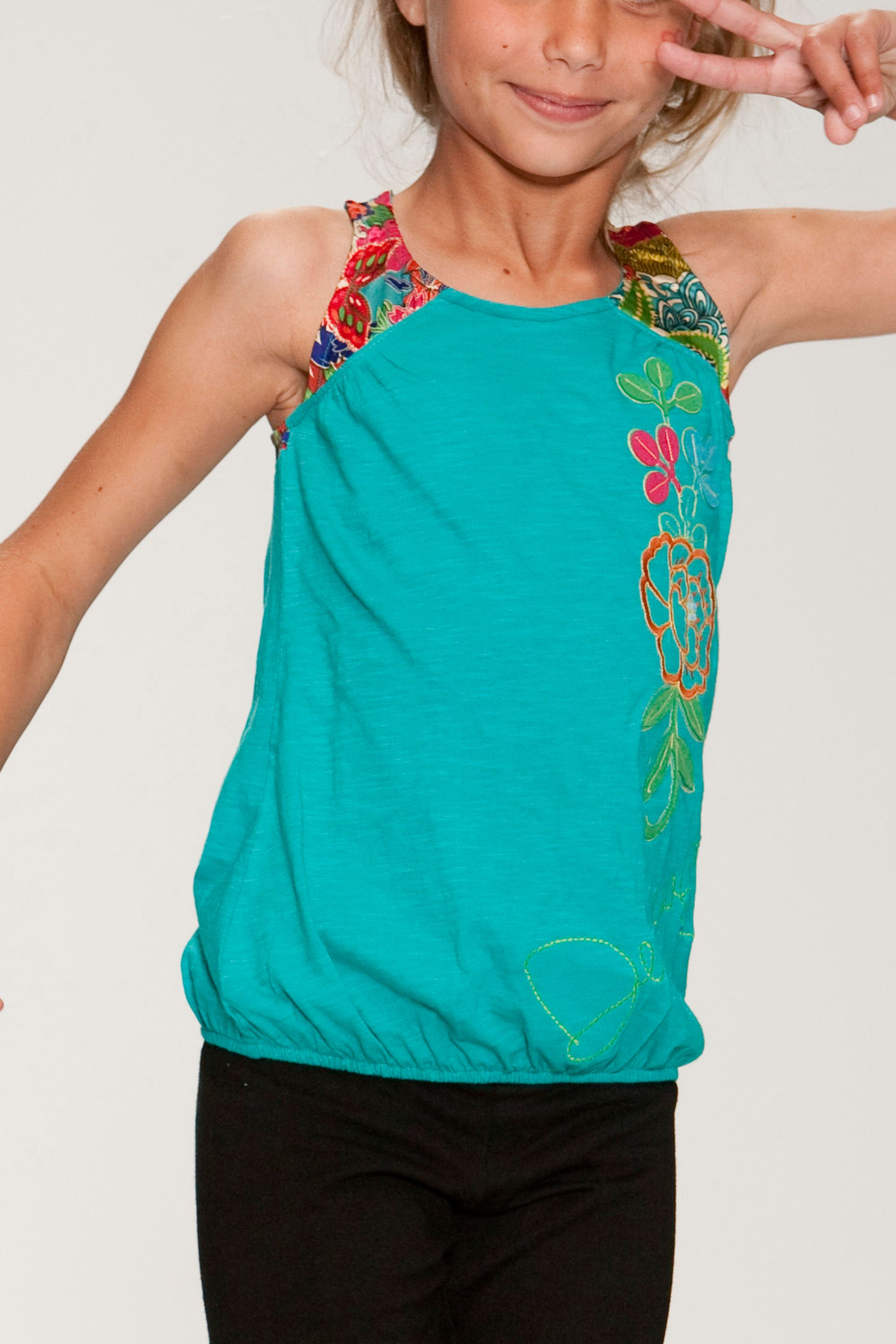 Desigual Childrens Desigual Flower print T-shirt, product image