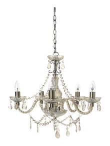 Shabby Chic Laurent 5 arm chandelier