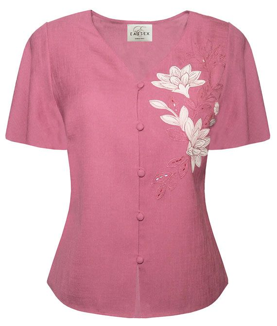 Eastex Placement applique blouse - Pink 20,20 product image