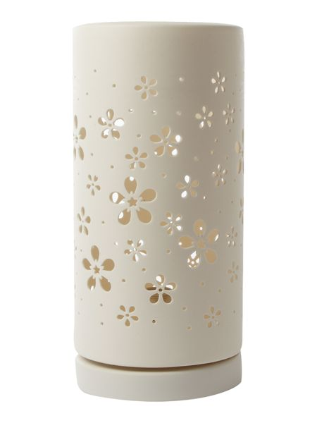 Linea Blossom ceramic cut out table lamp
