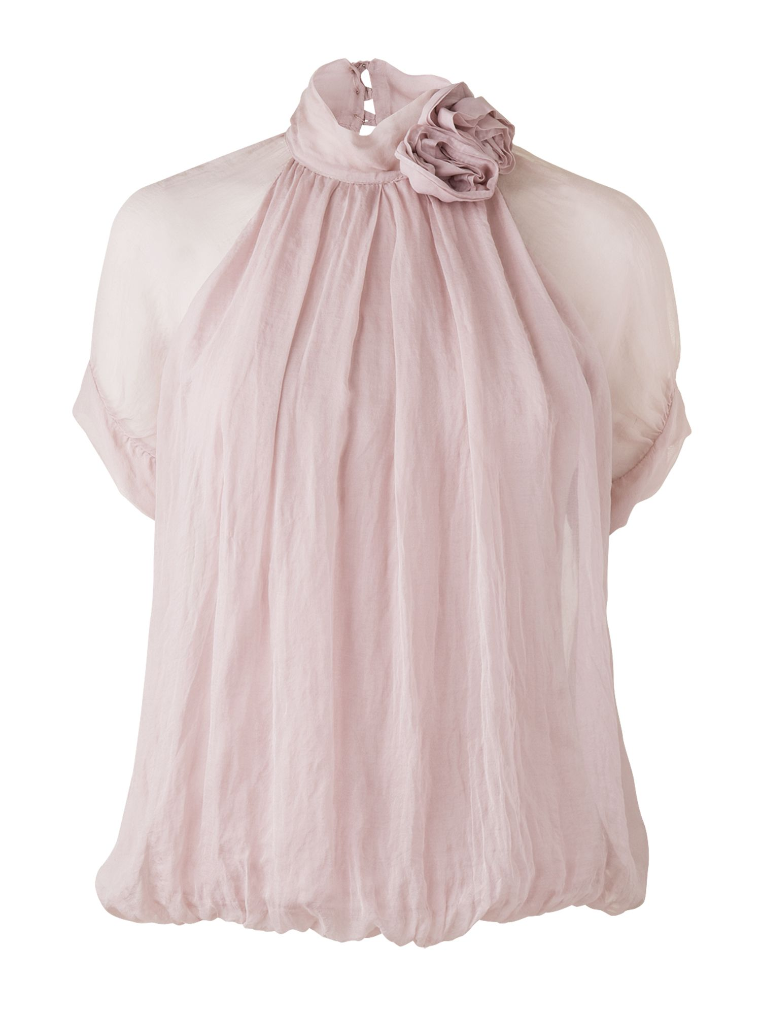 Phase Eight Womens Phase Eight Silk flower blouse, Pink product image