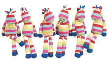 Stripy horse soft toy