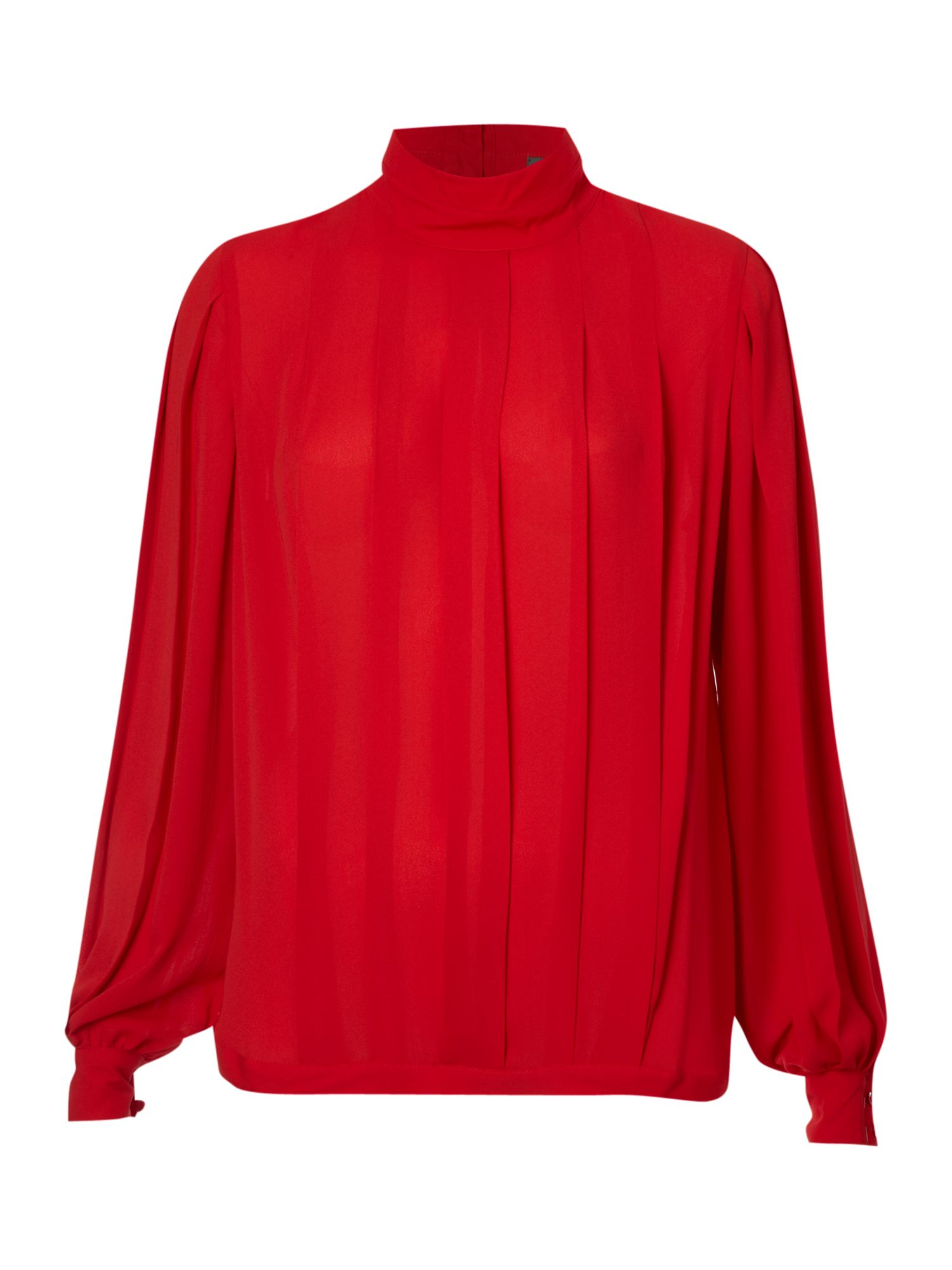 Pied a Terre Womens Pied a Terre Pleat front blouse, Red product image