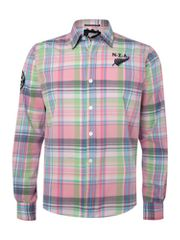 NZA Multi check long sleeved shirt