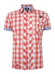 NZA Grid check short sleeve shirt