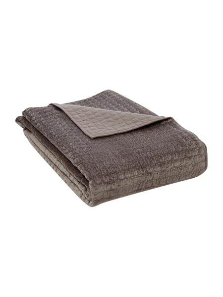 Casa Couture Velvet circles bedspread in pewter