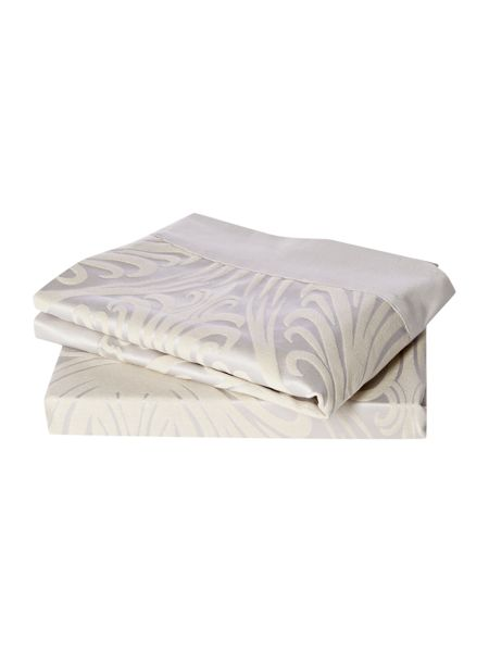 Linea Morris Jacquard oxford pillowcase pair champagne
