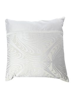 Morris Jacquard square cushion in champagne