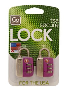 Twin travel sentry lock