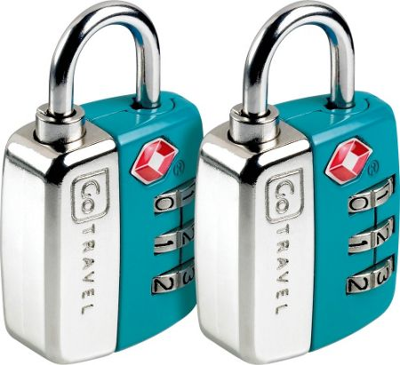 Go Travel Twin travel sentry padlocks, assorted colours