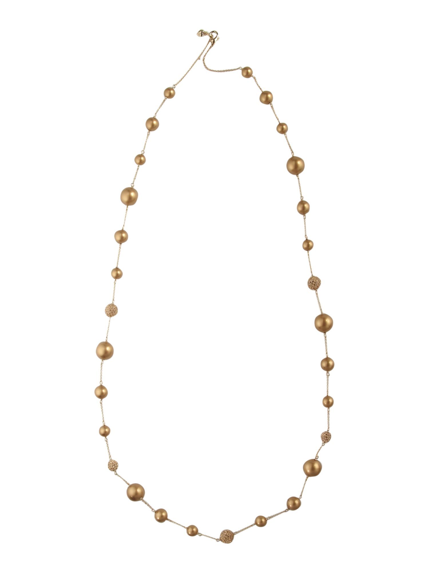 Carolee Gold pearl crystal 42 mixed illusion necklace