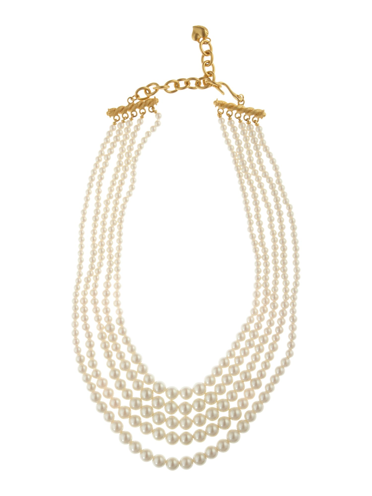 Carolee Style Icons pearl 16 graduated 5 row necklace