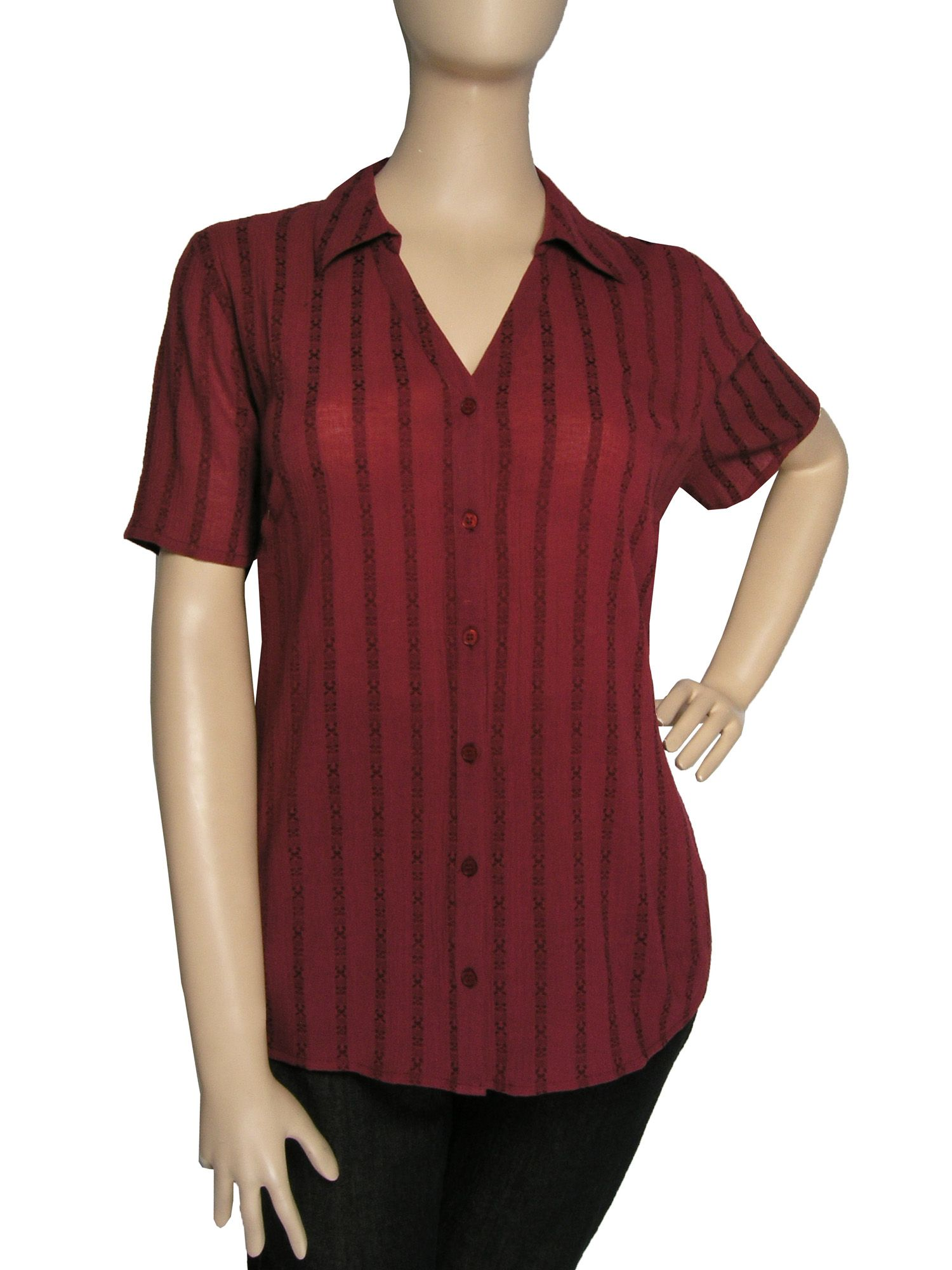 Ann Harvey Cheesecloth blouse - Red 18,18 product image