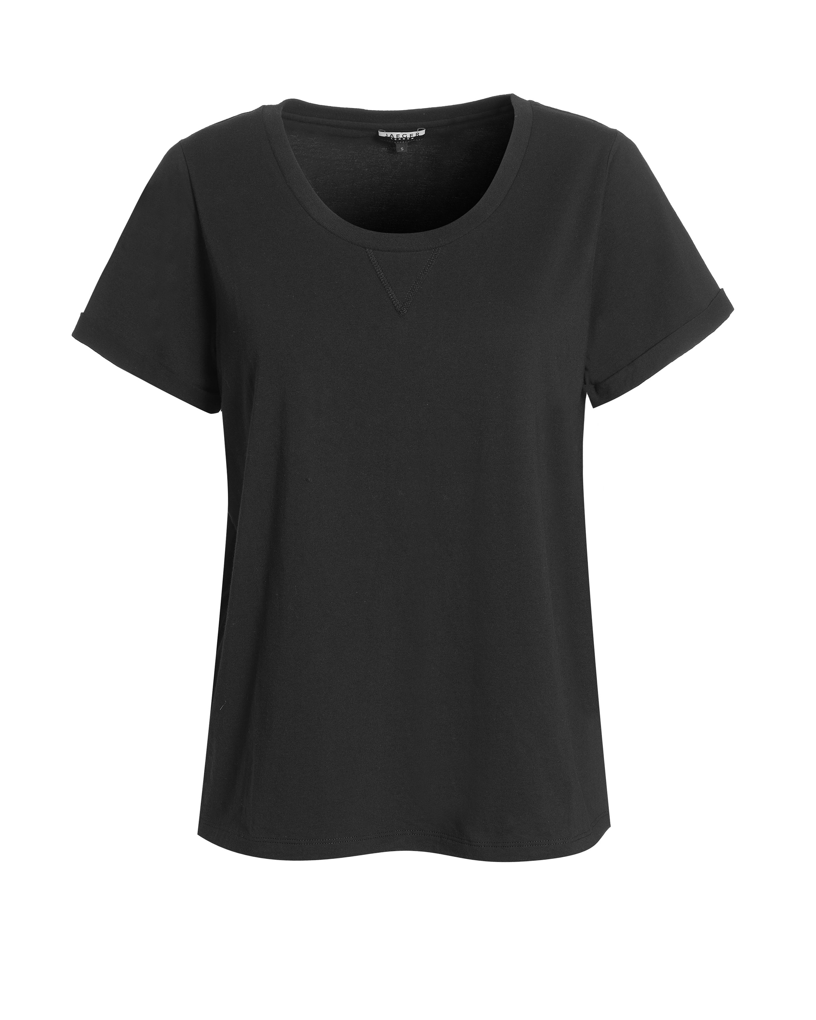 Jaeger Roll sleeve t-shirt - Black L,XS,S product image