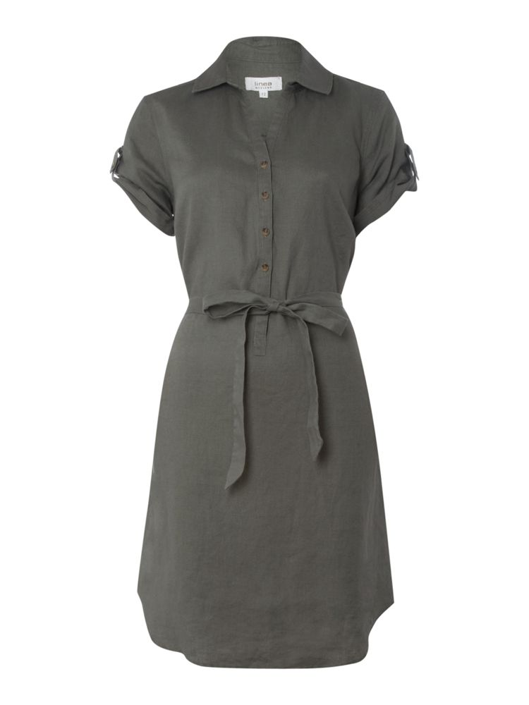 Linea-Weekend-Linen-Shirt-Dress-In-Khaki