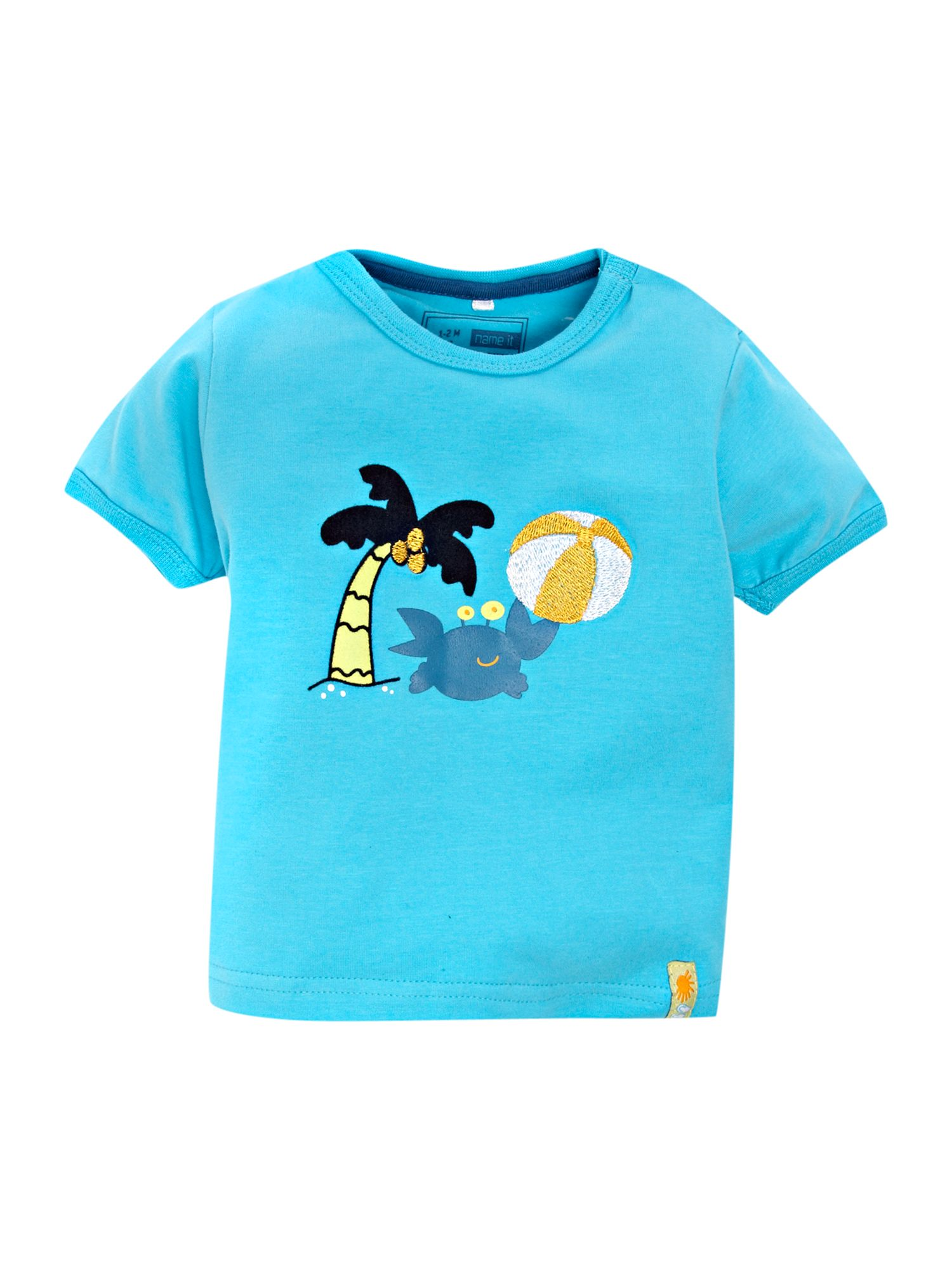 Name it short sleeved crab printed t shirt review for Name printed t shirts online
