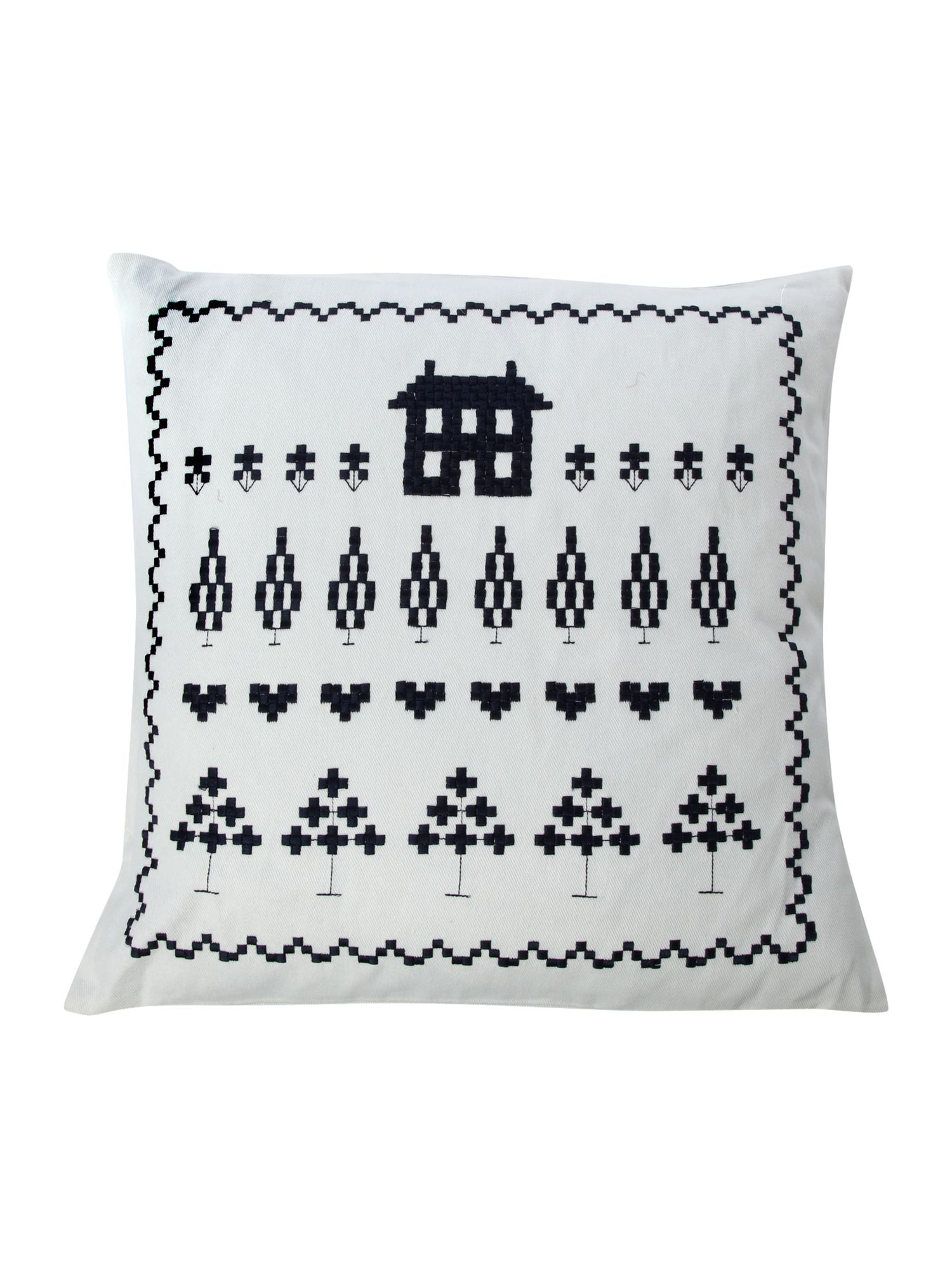 Bryony cushion in navy