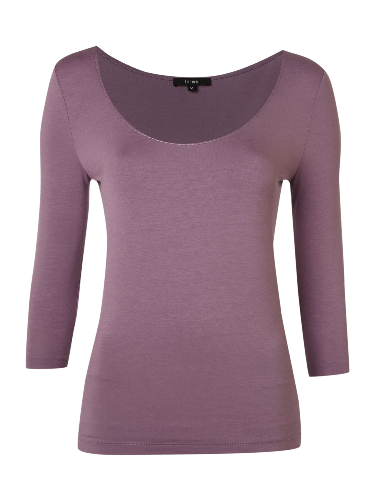 Linea Scoop neck T-shirt - Purple product image