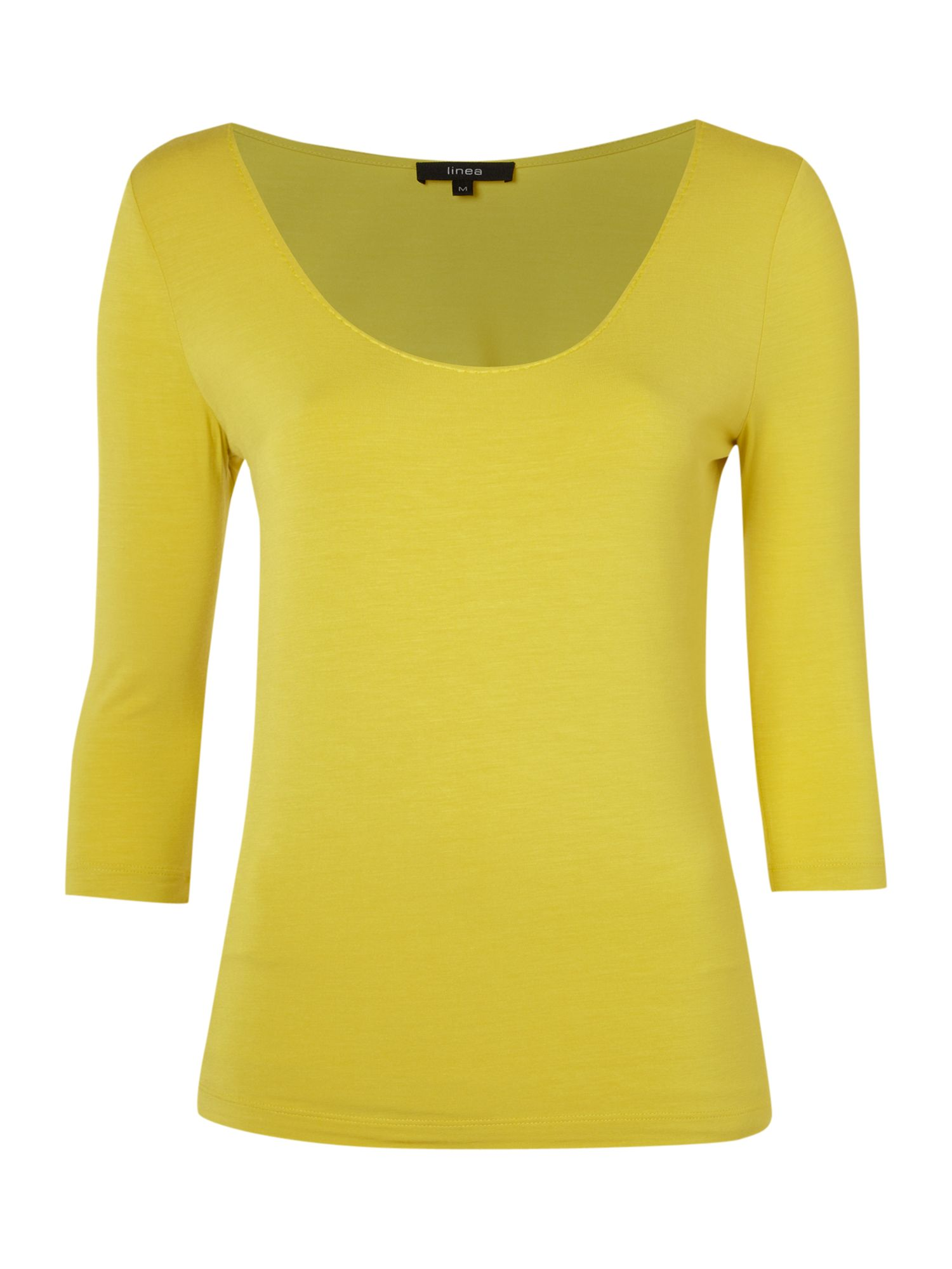 Womens Linea Scoop neck T-shirt, Yellow