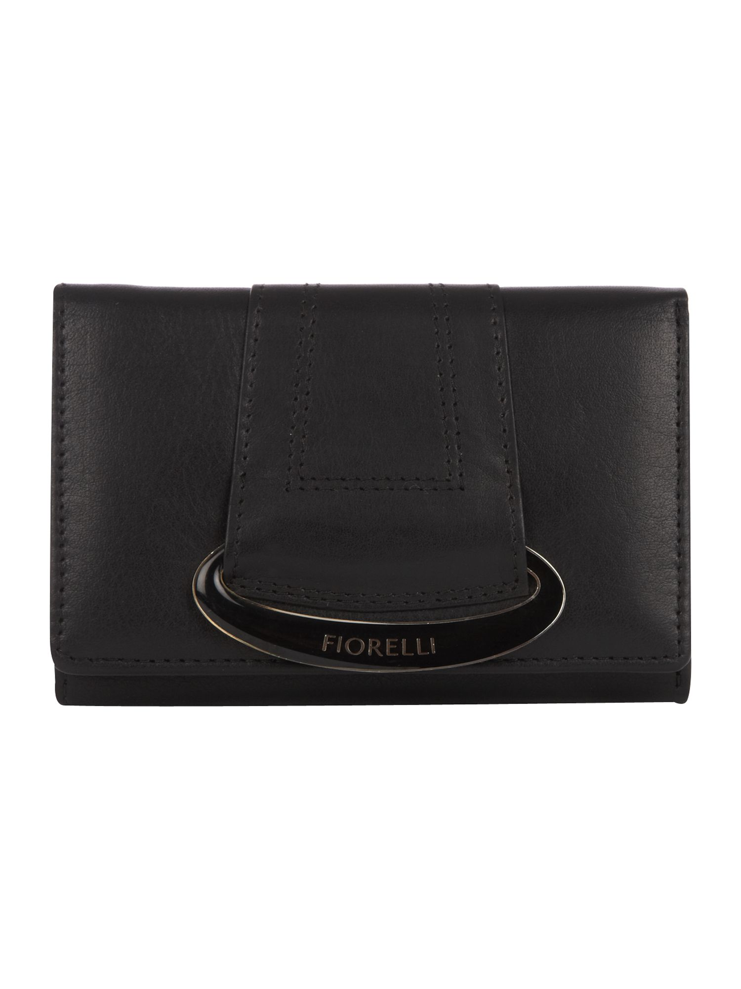 Fiorelli Oval Medium Fold Over Purse, Black