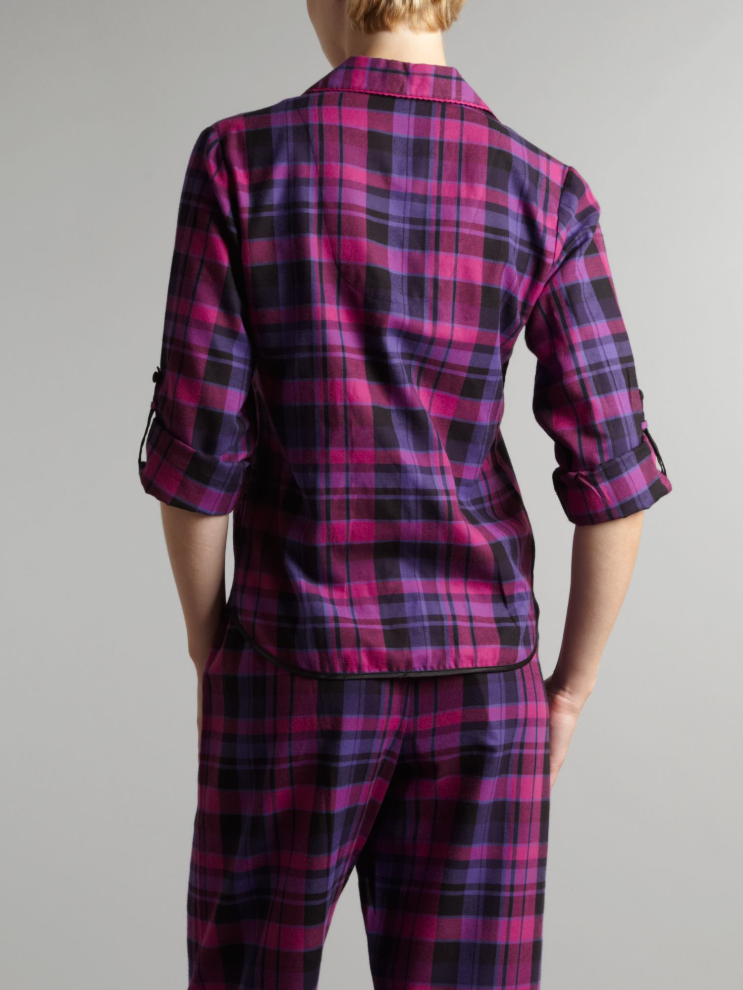 Carmine Check PJ Top