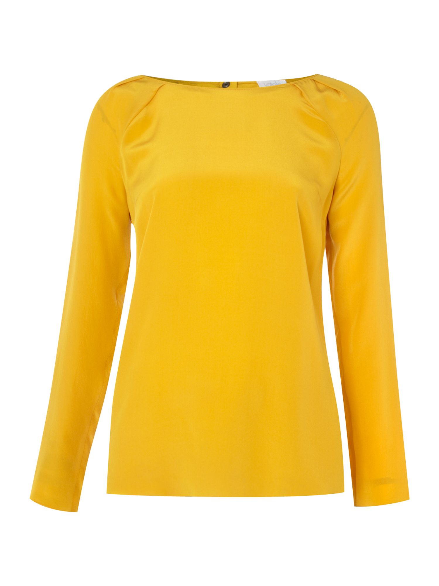 Untold Womens Untold Button back blouse, Mustard product image