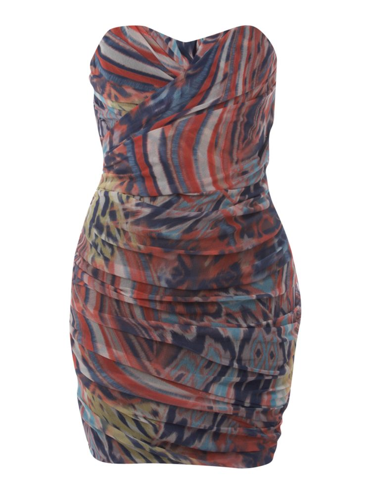 Rare-Tribal-Mesh-Dress-In-Multi-Coloured