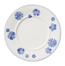 Farmhouse touch blueflowers salad plate