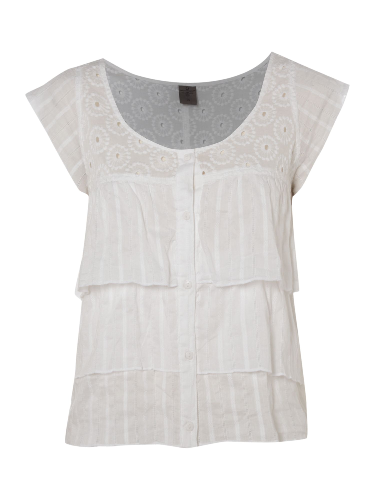 Vero Moda Lace frill short blouse - White product image